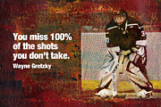 Gretzky Prints - Missed Shots Print by John Turek