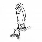 Missing Feet Print by Karl Addison