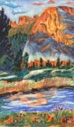 Missing Paintings - Missing Painting of Tuolumne Meadows at Yosemite by Warren Thompson