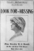 New York Police Station Prints - Missing Person, 1911 Print by Granger