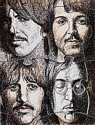 Beatles John Lennon Paul Mccartney George Harrison Ringo Starr Music Rock Icon Framed Prints - Missing Pieces Framed Print by Maria Arango