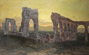 Ruin Painting Metal Prints - Mission Arcades Metal Print by Christian Jorgensen