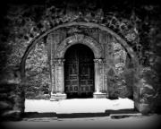 Mission Church Framed Prints - Mission archway II Framed Print by Perry Webster