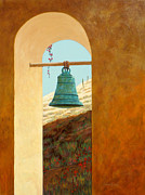 Baja Art Card Painting Originals - Mission Bell by Chris MacClure