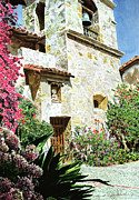 Bell Tower Paintings - Mission Carmel Bell Tower by David Lloyd Glover