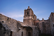 Unrestored Framed Prints - Mission Concepcion Courtyard Framed Print by Melany Sarafis