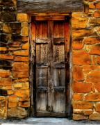 Classic Architecture Prints - Mission Door Print by Perry Webster