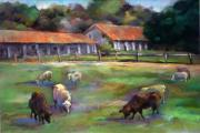 California Pastels - Mission Grazing by Joan  Jones