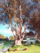 Eucalyptus Digital Art - Mission Ranch Eucalyptus by Jim Pavelle