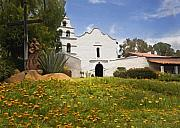 Missions Framed Prints - Mission San Diego de Alcala Framed Print by Sharon Foster
