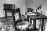 Desk Posters - Mission San Diego de Alcala Writing Table Poster by Bob Christopher