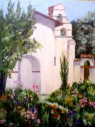 San Juan Paintings - Mission San Juan Batista by Louise Roy
