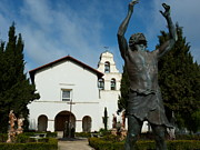 Mission San Juan Bautista Framed Prints - Mission San Juan Bautista Framed Print by Jeff Lowe