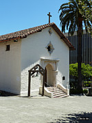 Red Tile Roof Posters - Mission San Rafael Arcangel Chapel Poster by Methune Hively
