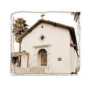 Mission San Rafael Digital Art Framed Prints - Mission San Rafael Arcangel - II Framed Print by Ken Evans