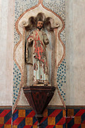 Spanish Art Sculpture Posters - Mission San Xavier del Bac - Interior Sculpture Poster by Suzanne Gaff
