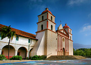 Religion Acrylic Prints Prints - Mission Santa Barbara II  Print by Steven Ainsworth