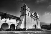 Adobe Framed Prints - Mission Santa Barbara Framed Print by Steven Ainsworth