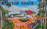 Walt Disney World Digital Art - Mission Space Landscape by David Lee Thompson