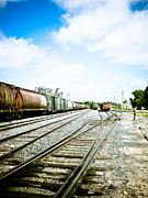 Retro Style Prints - Mission Street train Yard Print by Michael Knight
