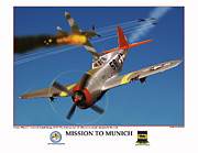 World War Two Photo Posters - Mission To Munich Poster by Jerry Taliaferro