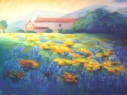 California Pastels - Mission Wildflowers by Karin  Leonard