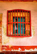 Religion Acrylic Prints Prints - Mission Window Print by Steven Ainsworth