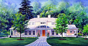 House Portrait Prints - Mississauga Home Print by Hanne Lore Koehler