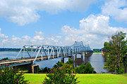 Mississippi Flowers Prints - Mississippi Bridge Print by Malania Hammer