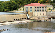 Red Roof Prints - Mississippi Hydroelectric Dam Print by Kristin Elmquist