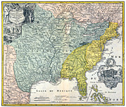France Map Prints - Mississippi Region, 1687 Print by Granger