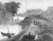 Chain Gang Prints - Mississippi River, 1884 Print by Granger