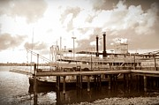 Steamboat Digital Art Prints - Mississippi Riverboat Print by Bill Cannon