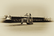 Riverboat Prints - Mississippi Riverboat - Natchez Print by Bill Cannon