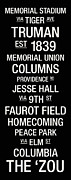 Jesse Posters - Missouri College Town Wall Art Poster by Replay Photos