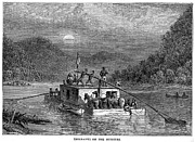Missouri River: Flatboat Print by Granger