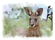 Kangaroo Mixed Media - Missouri by Samantha Tro