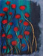 Roses Poppies Paintings - Mist by  Abril Andrade Griffith
