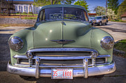 Chevy Coupe Prints - Mist Green Print by Debra and Dave Vanderlaan