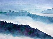 Howe Paintings - Mist on Howe Sound by Pat Vickers