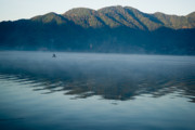 Volcano Prints - Mist on Lake Atitlan Guatemala Print by Douglas Barnett
