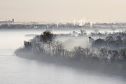 Foggy Day Prints - Mist Shrouded River Print by Jeremy Woodhouse