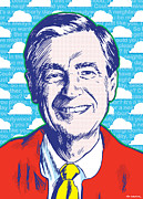 Illustration. Prints - Mister Rogers Print by Jim Zahniser