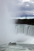 "\""niagra Falls\\\"" Framed Prints - Misty Framed Print by Amanda Barcon"