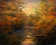 Autumn Landscape Metal Prints - Misty Autumn Morning Metal Print by Jai Johnson