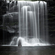 Falling Water Photos - Misty Canyon Waterfall by John Stephens