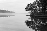 Thoughts Photo Prints - Misty Cove Print by Luke Moore