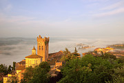 Tuscan Hills Photos - Misty Dawn San Miniato by Brian Jannsen