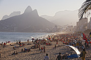 Beach Activities Prints - Misty Ipanema Print by George Oze