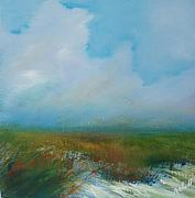 Landscape Posters Prints - Misty Marsh Print by Michele Hollister - for Nancy Asbell